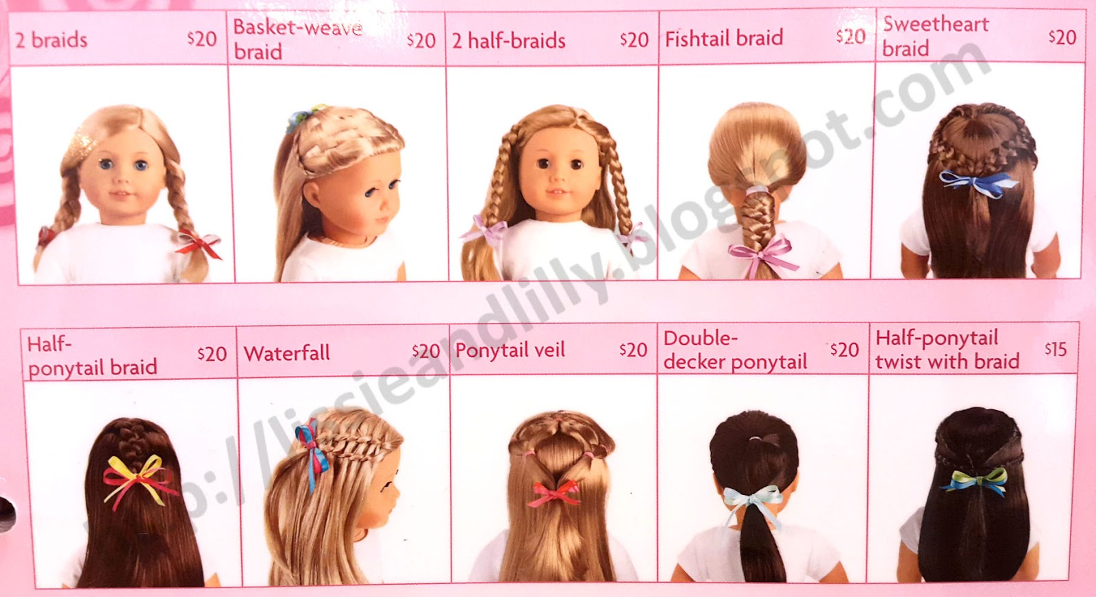 Lissie Lilly AG Salon Hairstyles - Hairstyles for dolls with long hair