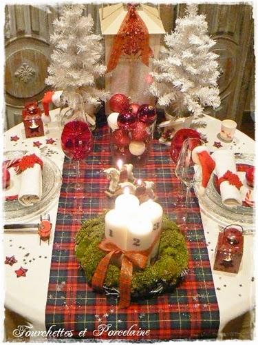 Fourchettes Et Porcelaine Table De No L A Carreaux