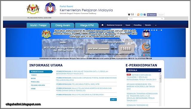 Laman Web KPM Berwajah Baru