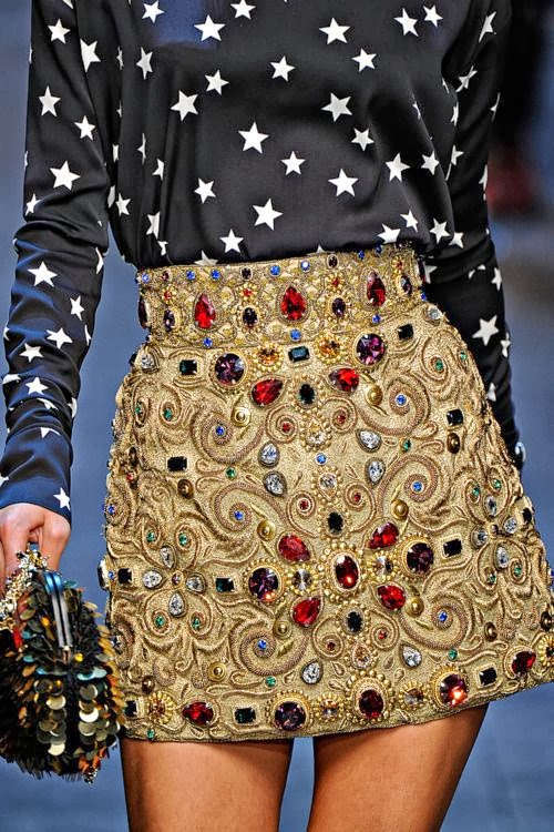A Wonderful Star-Shirt And Mini Golden Skirt, Fashion 2013,UK