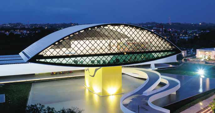 Museu Oscar Niemeyer is among the worlds 20 most beautiful