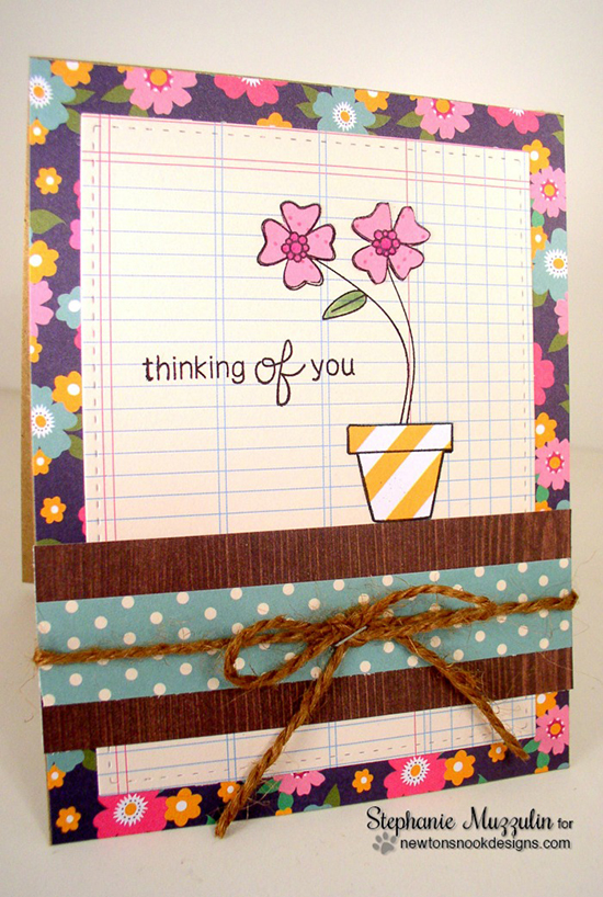 Thinking of You Flower Pot Card by Stephanie Muzzulin | Versatile Vases Stamp Set by Newton's Nook Designs