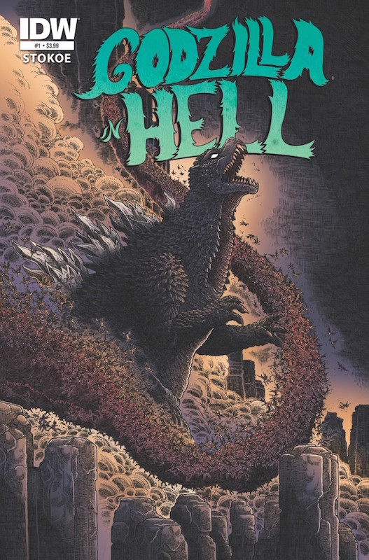 Godzilla in Hell #1 Story and art by James Stokoe, Jeff Zornow, Sara Richard.  Godzilla/Gojira created by Tomoyuki Tanaka, Ishirō Honda, Shigeru Kayama, Eiji Tsubaraya.