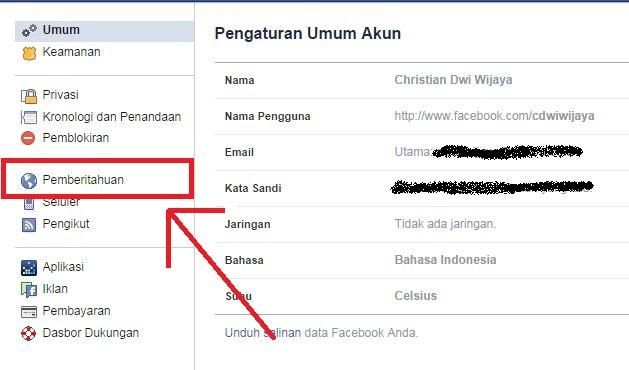Cara Menonaktifkan Pemberitahuan Facebook di Email