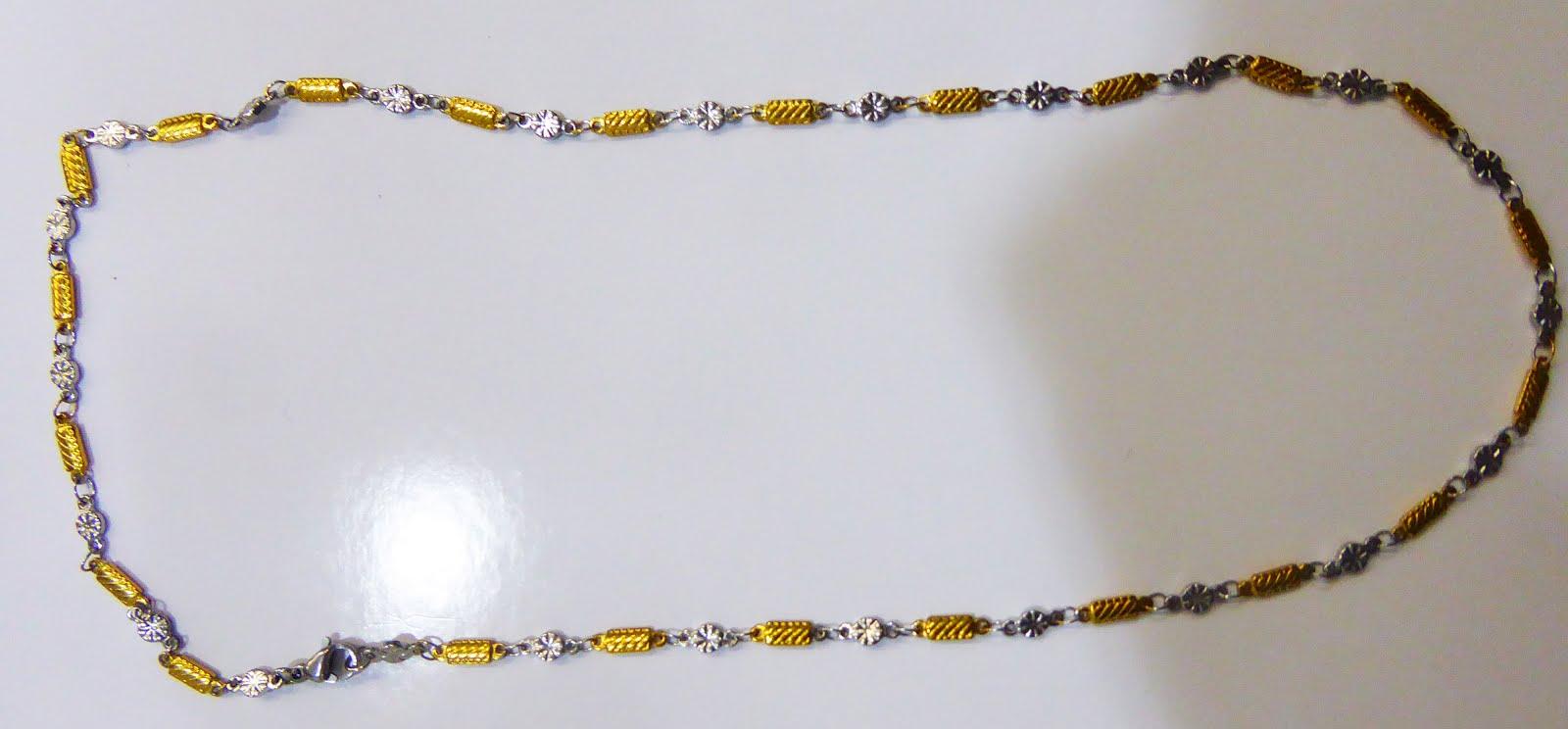 Gargantilla bicolor de acero