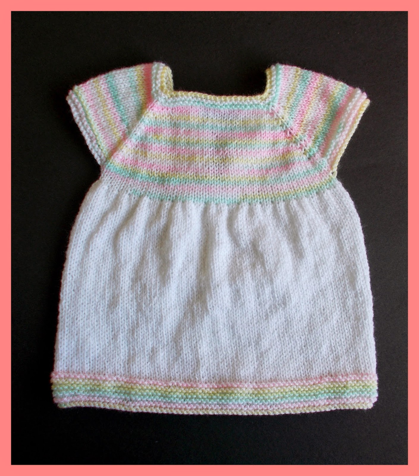 Knitting Instructions For Baby Dress : Marianna s lazy daisy days starting out knitted baby dress