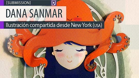 Ilustración. Tentacles on my head de Dana Sanmar