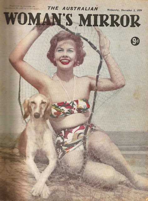VINTAGE 2 December 1959 Australian women's Mirror Magazine 1950s