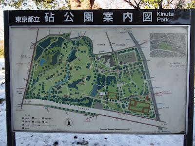 砧公園案内図