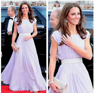 Baju Pesta Ala Kate Middleton Gaun Dress Mewah Ala Kate