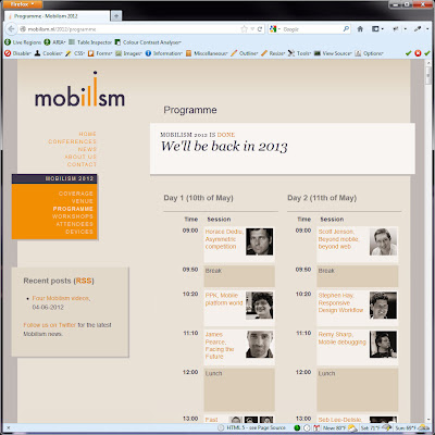Screen shot of http://mobilism.nl/2012/programme.