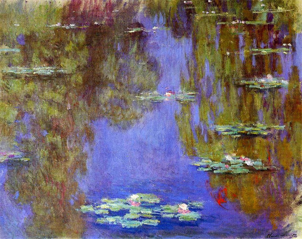 claude monet water lilies Monet's veritable artistic testament, these large decorations are the culmination of an entire life designed from 1915 until his death (1926), they are .
