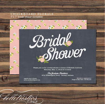 vintage chalkboard florals hand drawn printable diy invite pdf