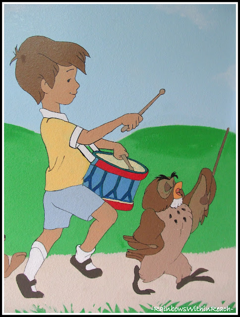 photo of: Painted Mural: Christopher Robin
