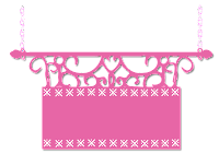 Plaquinha cute rosa x - Criação Blog PNG-Free