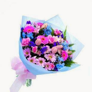 Florist Pink and blue