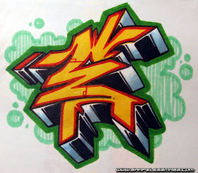 The Letters E in Graffiti