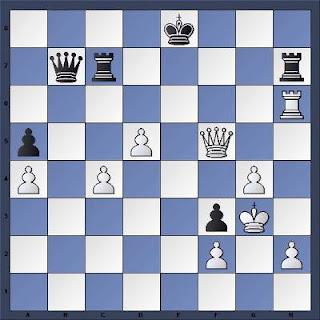 Echecs à Bienne : Position après 42...Th7??