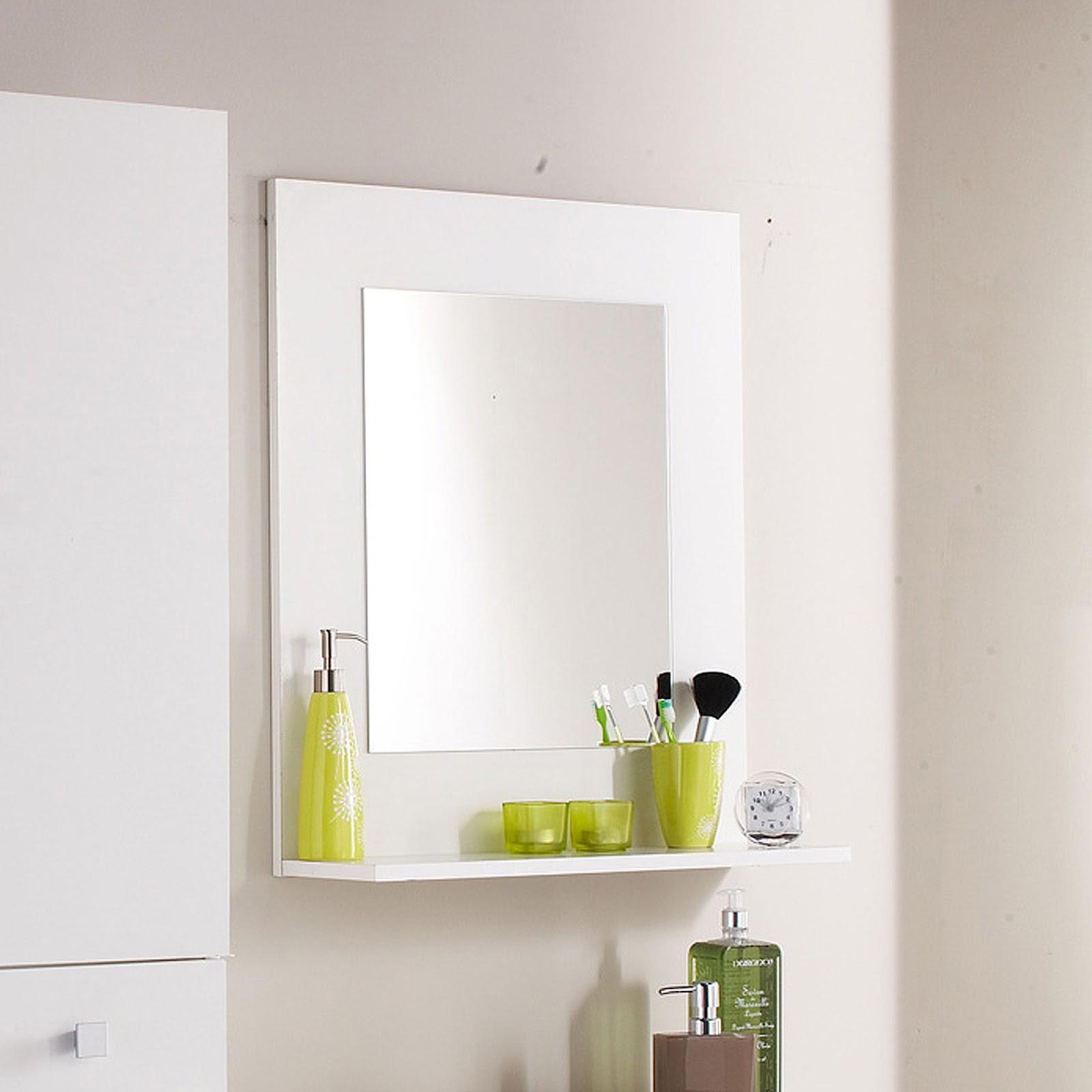 Salle De Bain Design Bois Et Blanc ~ miroir salle de bain 120×80 cm basic of miroir simple deplim com
