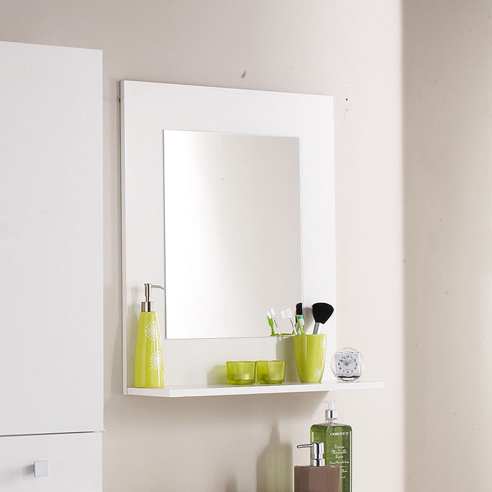 Salle De Bain Qweenie ~ miroir salle de bain 120×80 cm basic of miroir simple deplim com