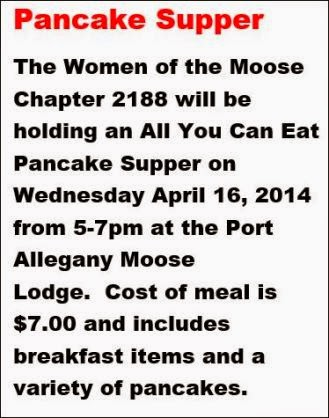 4-16 Pancake Supper Moose