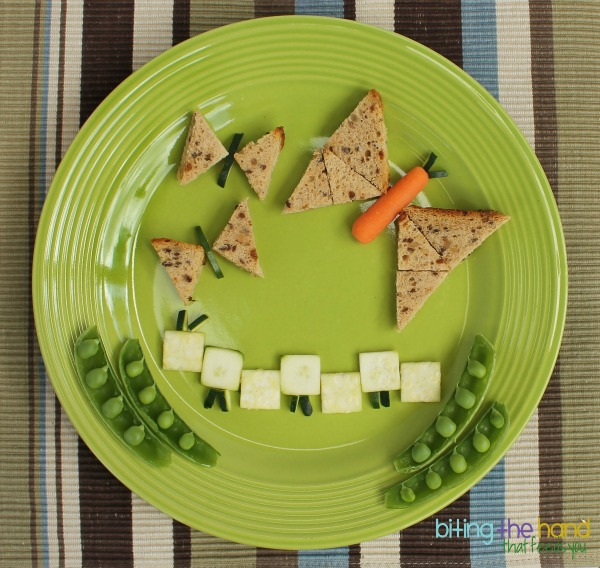 FunBites Triangles and Squares cutter butterflies and caterpillar snack