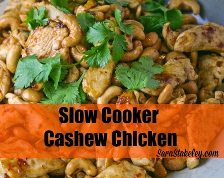 crock pot, slow cooker, Cashew Chicken, Eat clean crockpot, Sara Stakeley, Sarastakeley.com, easy healthy meals,
