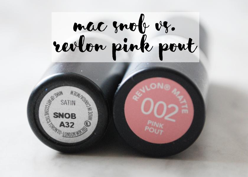 bbloggers, bbloggersca, beauty blogger, mac, pink pout, revlon, snob, lipstick, lipsticks, dupes, dupe, swatches