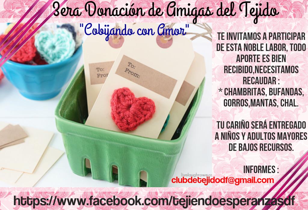 """3era Donación del Grupo """"Amigas del Tejido"""""""
