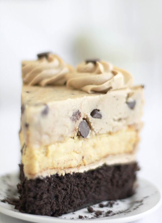 Chocolate Chip Cookie Dough Devil's Food Cake Cheesecake | Sprinkle ...