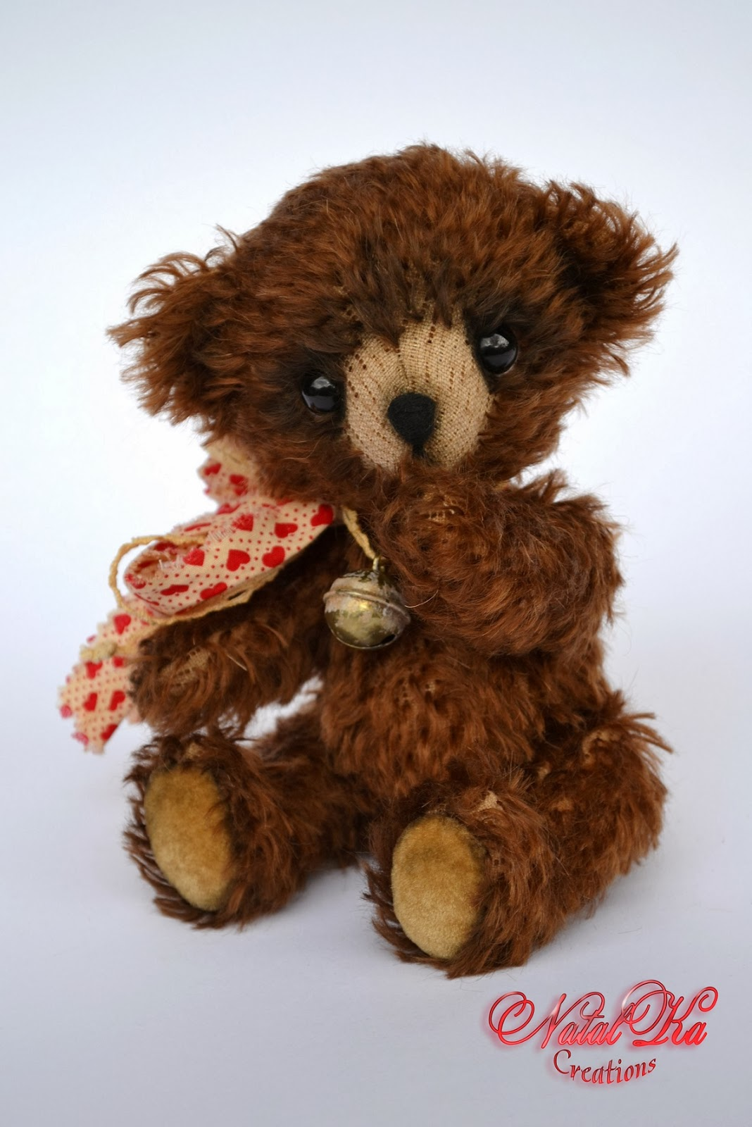 Artist teddy bear handmade by Natalka Creations. Авторские мишки тедди