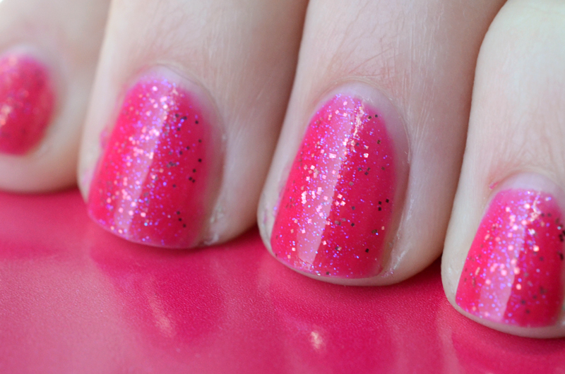 Hot Pink Glitter Nail Polish
