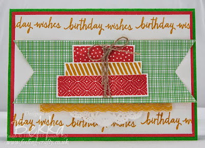 The New Build A Birthday Stamp Set from Stampin' Up! UK - available here from www.bekka.stampinup.net from 2 June