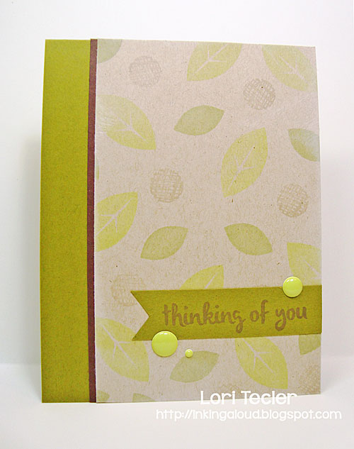 Thinking of You card-designed by Lori Tecler/Inking Aloud-stamps from Avery Elle