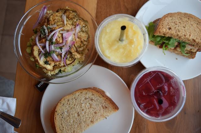 aroma espresso bar, Toronto food, healthy lunch