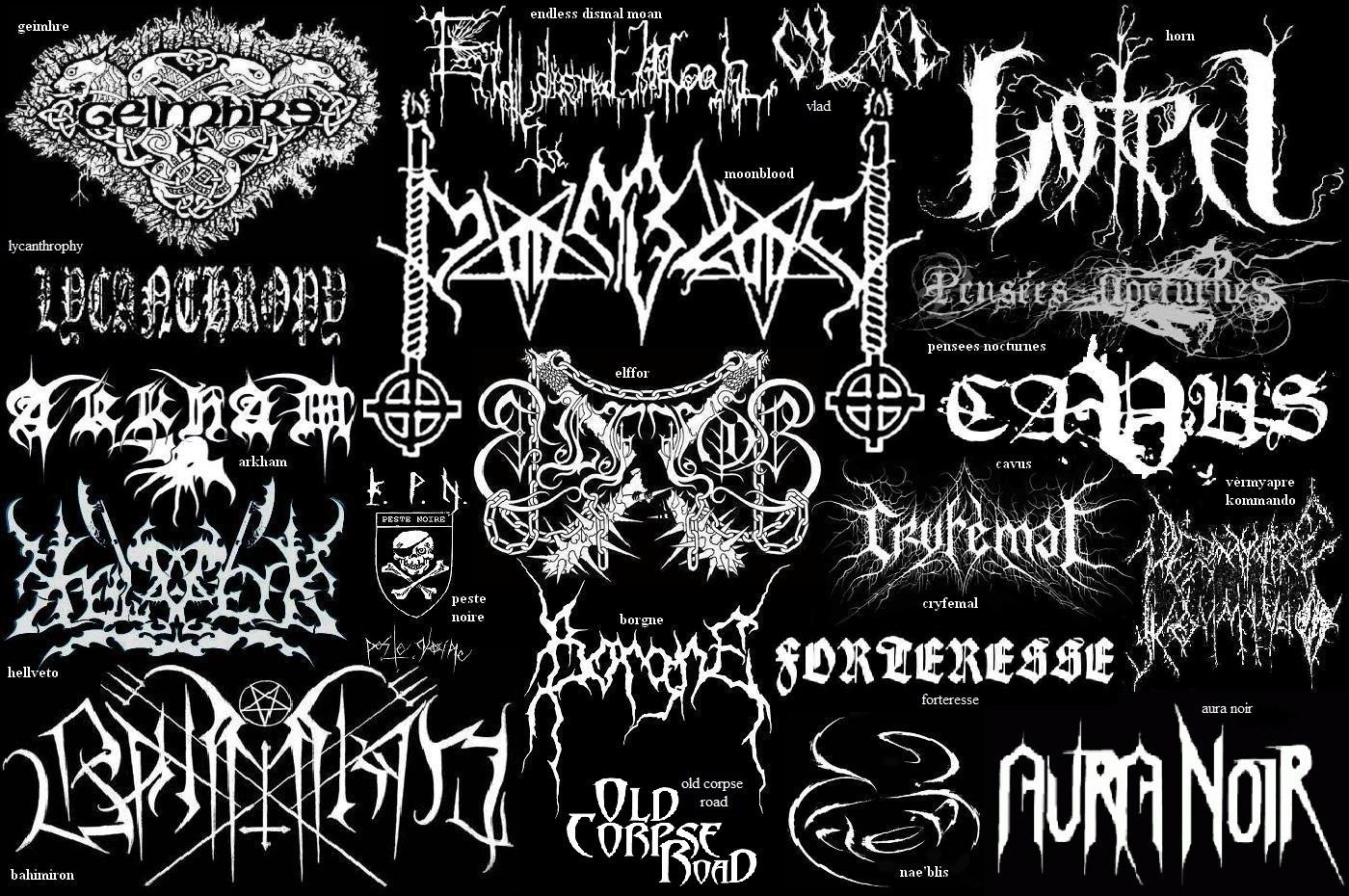 80s metal band logos
