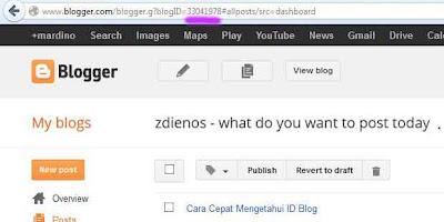 Cara Cepat Mengetahui ID Blog