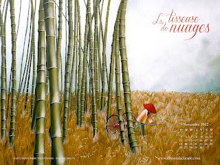 Fonds d'écran de novembre 2012, avec et sans calendrier (éditions Des ronds dans l'O)