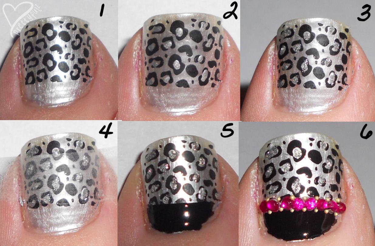 Cute pink black nail designs for short nails