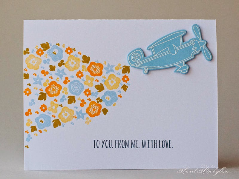 Greeting Card with Papertrey Ink Mini Blooms by Sweet Kobylkin