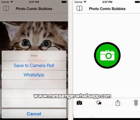 Crea imágenes de humor o memes con Foto Comic Bubbles para WhatsApp