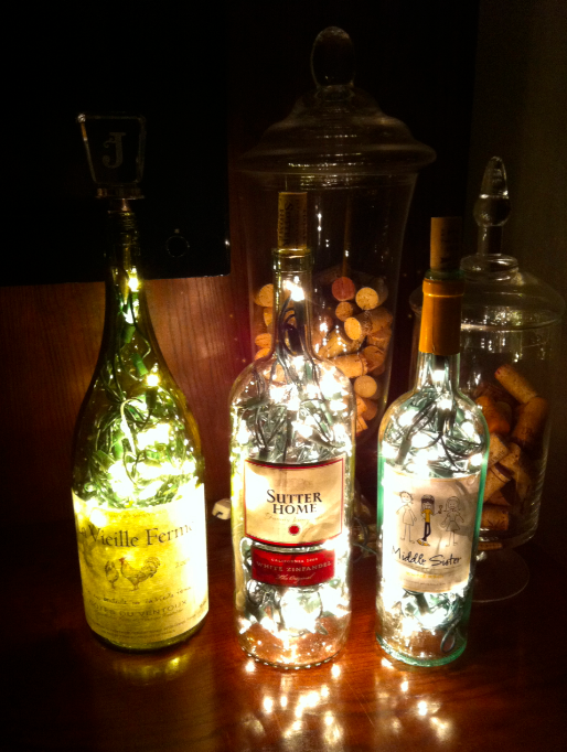 Janina A La Maison Diy Bottle Lamp