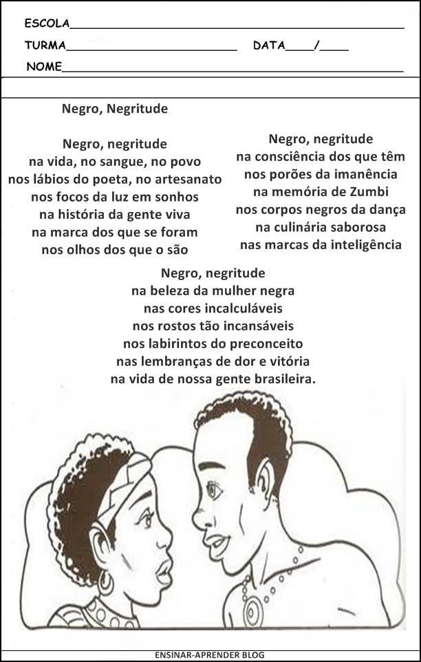 Well-known ATIVIDADES SOBRE A CONSCIÊNCIA NEGRA 2012 | Cantinho do Educador  EJ89