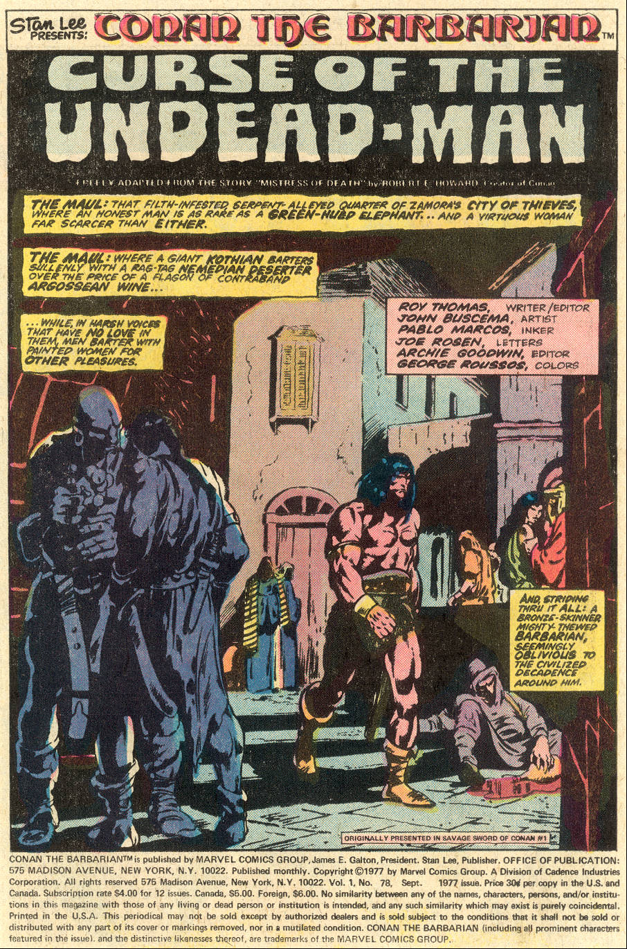 Conan the Barbarian (1970) Issue #78 #90 - English 2