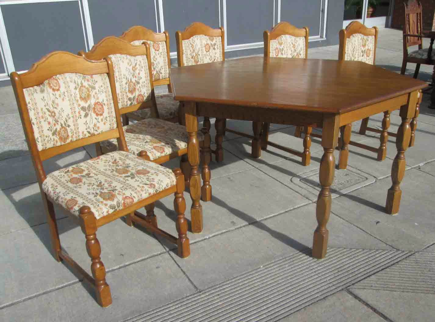 UHURU FURNITURE COLLECTIBLES SOLD German Dining Table With Butterfly L