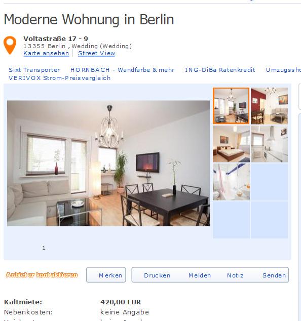 Single wohnung berlin wedding