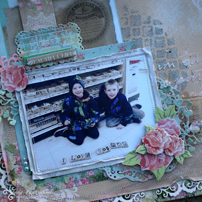 Beautiful Life Scrapbook Page featuring Soiree collection by BoBunny with Whisper and French Vanilla DoubleDot designed by Rhonda Van Ginkel