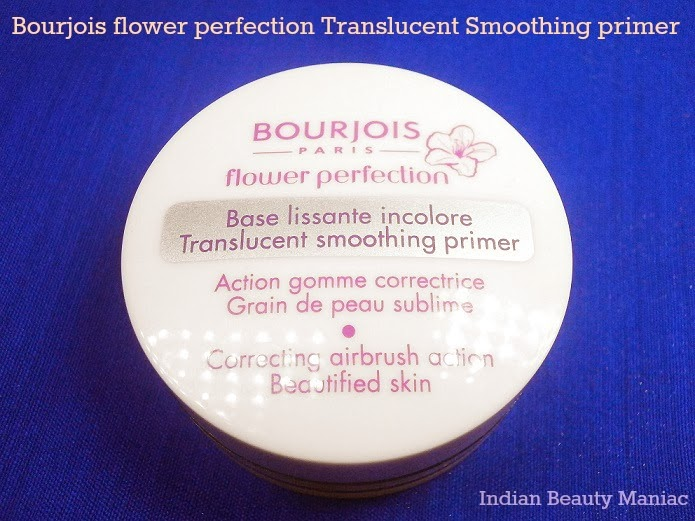 Bourjois Flower Perfection Translucent Smoothing  Primer packing review and swatch