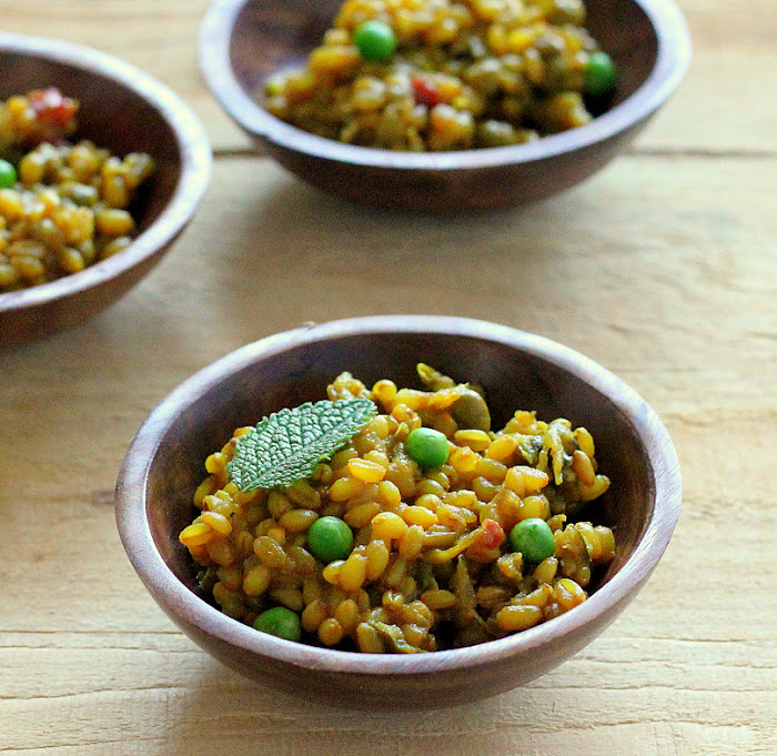 VeganRicha - Vegan Wheat berry Pilaf