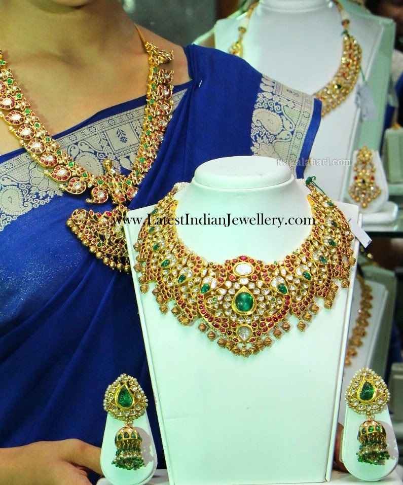 Kundan Necklace in Peacock Design